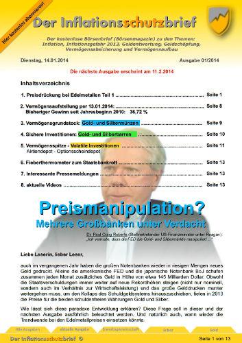Inflationsschutzbrief 1-2014