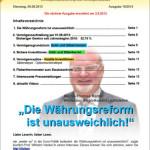 Inflationsschutzbrief 10-2013: Währungsreform unausweichlich