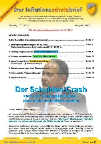 Inflationsschutzbrief 15-2013