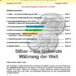 Inflationsschutzbrief 19/2012 Silber sichere Währung