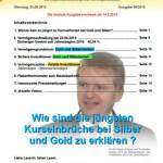 Inflationsschutzbrief Ausgabe 6 / 2013: Kursverluste Gold Silber