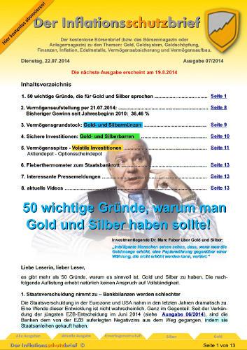 Inflationsschutzbrief 7/2014