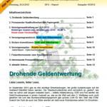 Inflationsschutzbrief Ausgabe16 / 2012 drohende Euro Entwertung