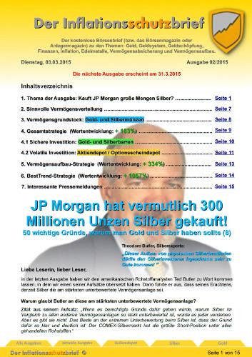 Inflationsschutzbrief Ausgabe 2/2015 - Anlagestrategien mit Rekordergebnis