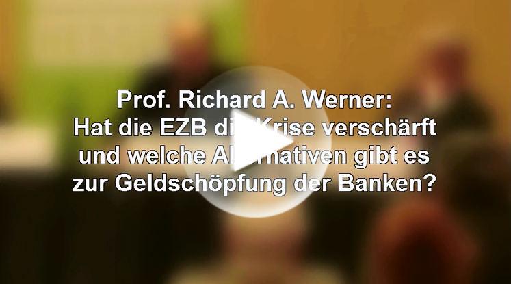 Prof. Richard Werner: EZB Ziel ist der europäische Superstaat