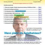 Inflationsschutzbrief 5 /2015: Wann platzt die Anleiheblase