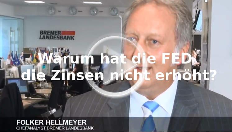 Folker Hellmeyer: Gründe FED Zinsen nicht anheben