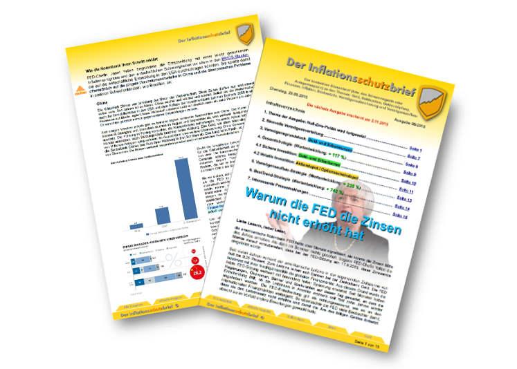 Inflationsschutzbrief Ausgabe 8/2015: FED erhöht die Zinsen nicht