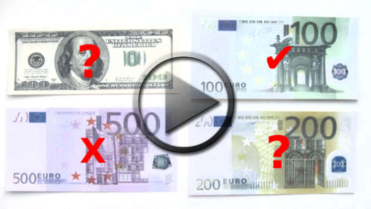 Bargeld: 500 Euro, 100 Dollar, 50 Pfund Geldscheine abgeschafft
