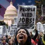 US-Wirtschaft: 23% Arbeitslosenquote 15% brauchen Essensmarken