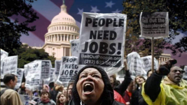 US-Aufschwung: 23% Arbeitslosenquote 15% brauchen Essensmarken