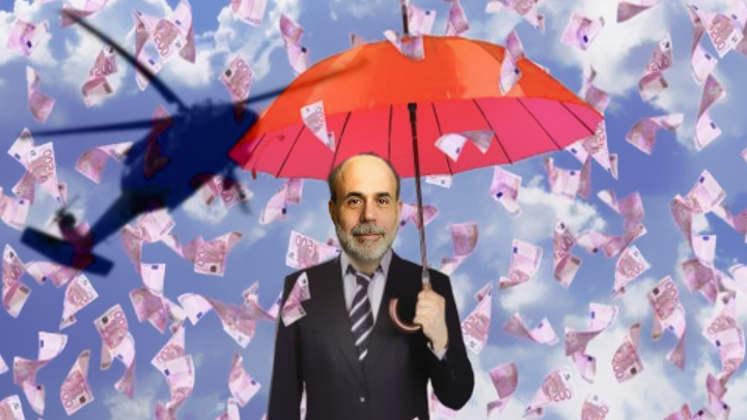 EZB-Geldpolitik - kommt Helikoptergeld