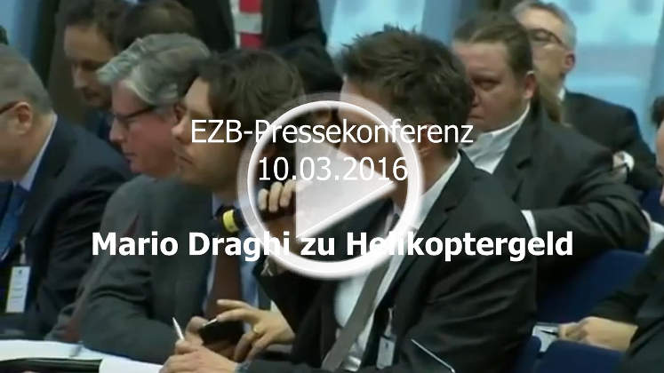 Helikopter-Geld: EZB-Pressekonferenz Mario Draghi