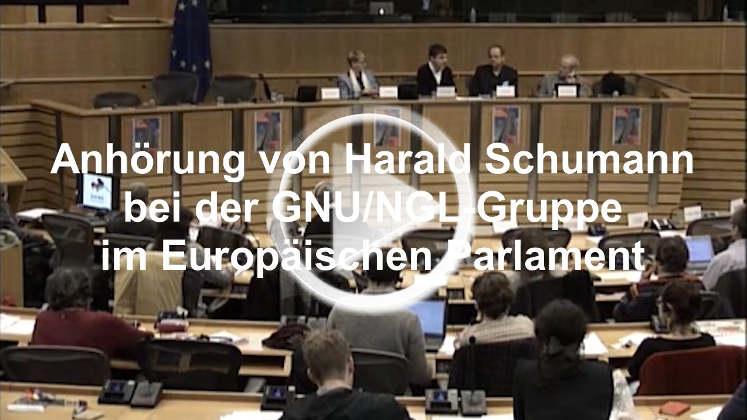EU-Parlament - Anhörung von Harald Schumann zur EZB