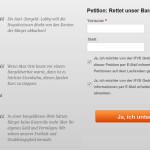 Petition gegen Bargeld-Obergrenze und ein Bargeldverbot mitzeichnen