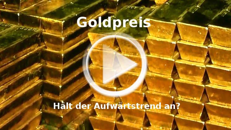 Goldpreis hat Aufwärtstrend wieder aufgenommen
