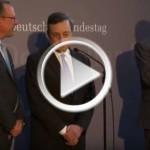 Mario Draghi erklärt offizielle Geldpolitik der EZB vor Bundestags-Ausschuss