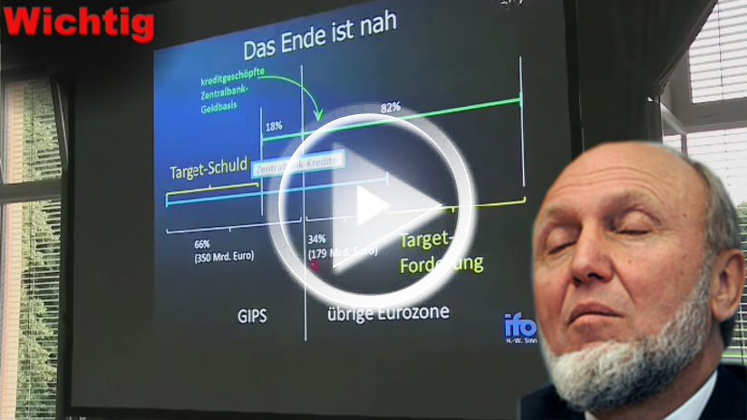 Video: Prof. Sinn warnte vor Bundesbank-Salden aus Target2 (Höchststand 2016)