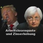 Trump nutzt Arbeitslosenquote für FED-Zinserhöhung und Rezession